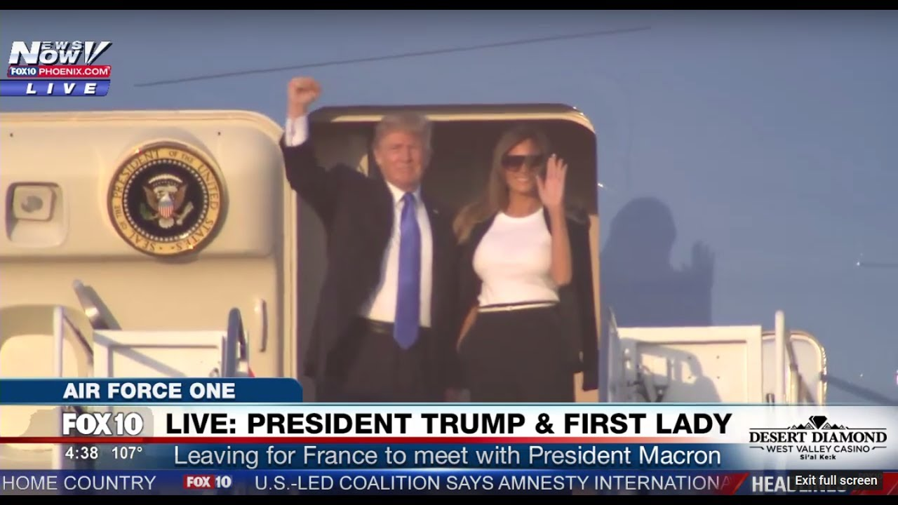 WATCH-President-Trump-And-The-First-Lady-Receive-YUGE-Applause-Boarding-Air-Force-One