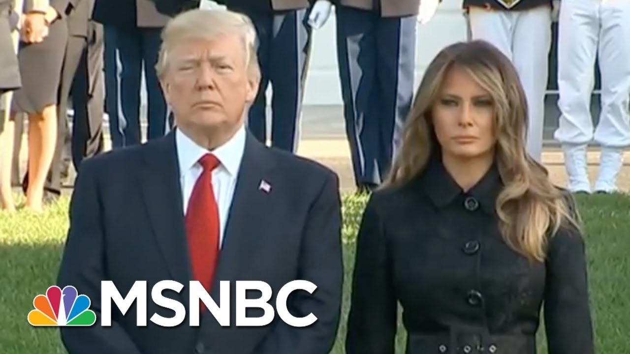 President-Donald-Trump-And-The-First-Lady-Lead-Moment-Of-Silence