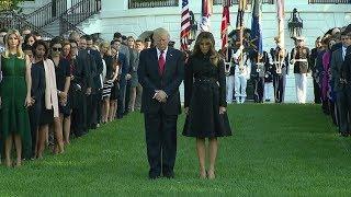 President-Trump-Melania-Lead-a-Moment-of-Silence-on-911-Anniversary