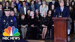 President-Trump-And-Lawmakers-Pay-Tribute-To-The-Late-Rev.-Billy-Graham-At-U.S.-Capitol