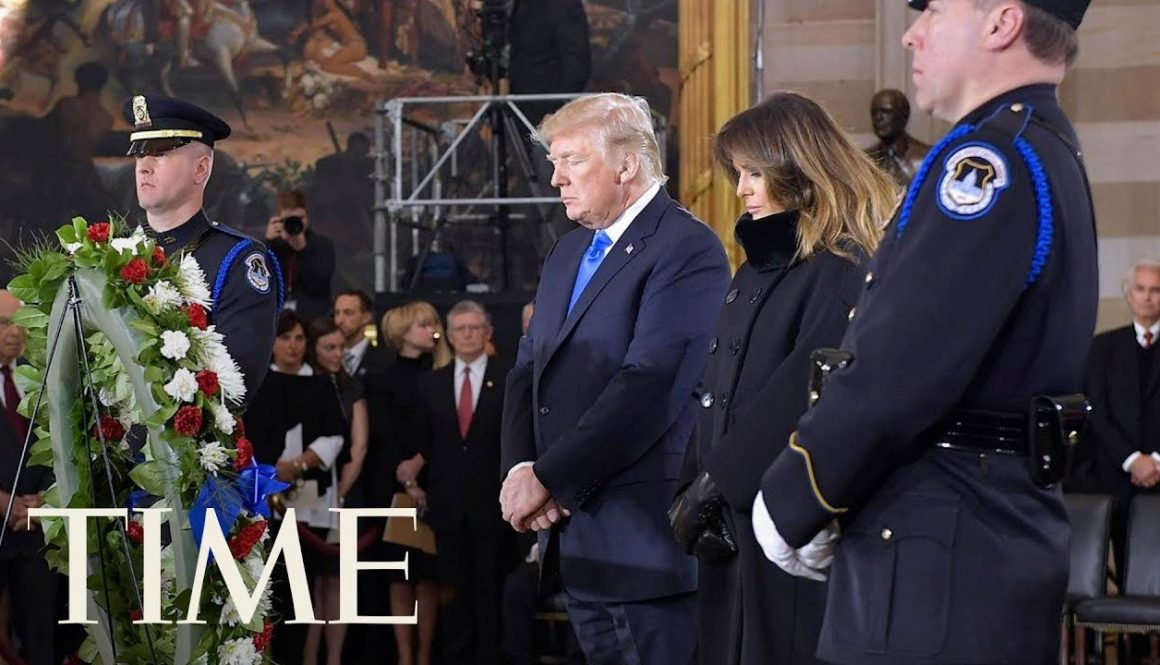 President-Donald-Trump-Honors-Rev.-Billy-Graham-At-Memorial-In-The-Capital