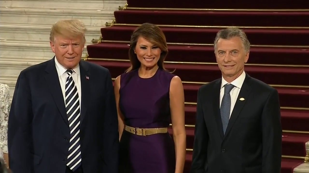 GLOBAL-ENTRANCE-President-Trump-and-Melania-Trump-Enter-G20-Dinner-Gala