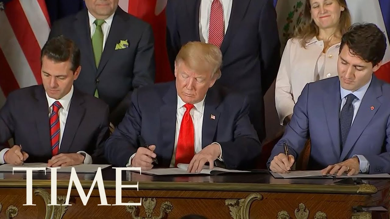Trump-Signs-Trade-Pact-With-Canadian-Prime-Minister-Trudeau-Mexican-President-Pena-Nieto