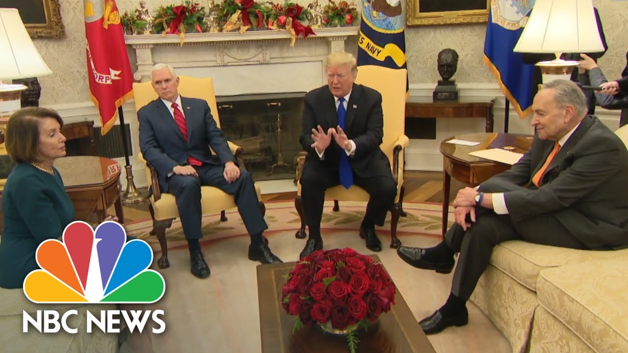 Watch-Trump-Pelosi-Schumer-Clash-Over-Border-Wall-Funding-In-Heated-Office-Meeting