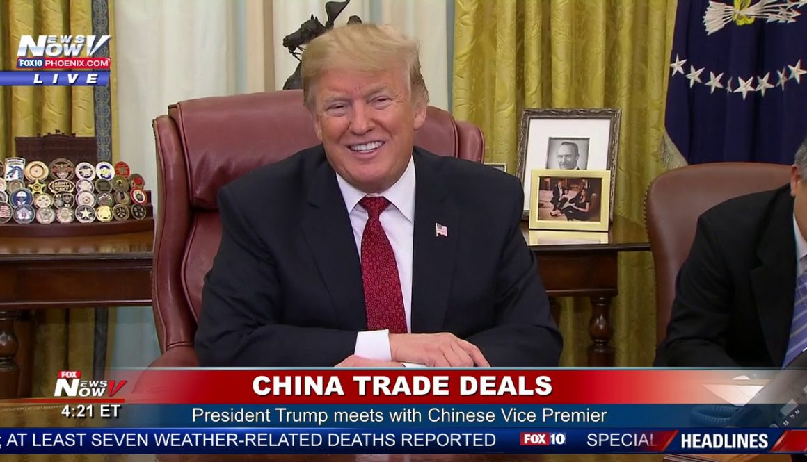 CHINA-TRADE-DEAL-President-Trump-Meets-With-China-Vice-Premier-To-Negotiate