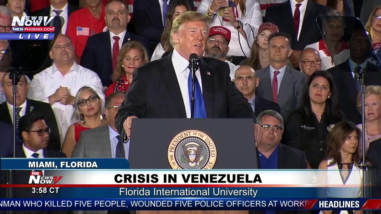 FULL-SPEECH-President-Trump-Addresses-Crisis-In-Venezuela