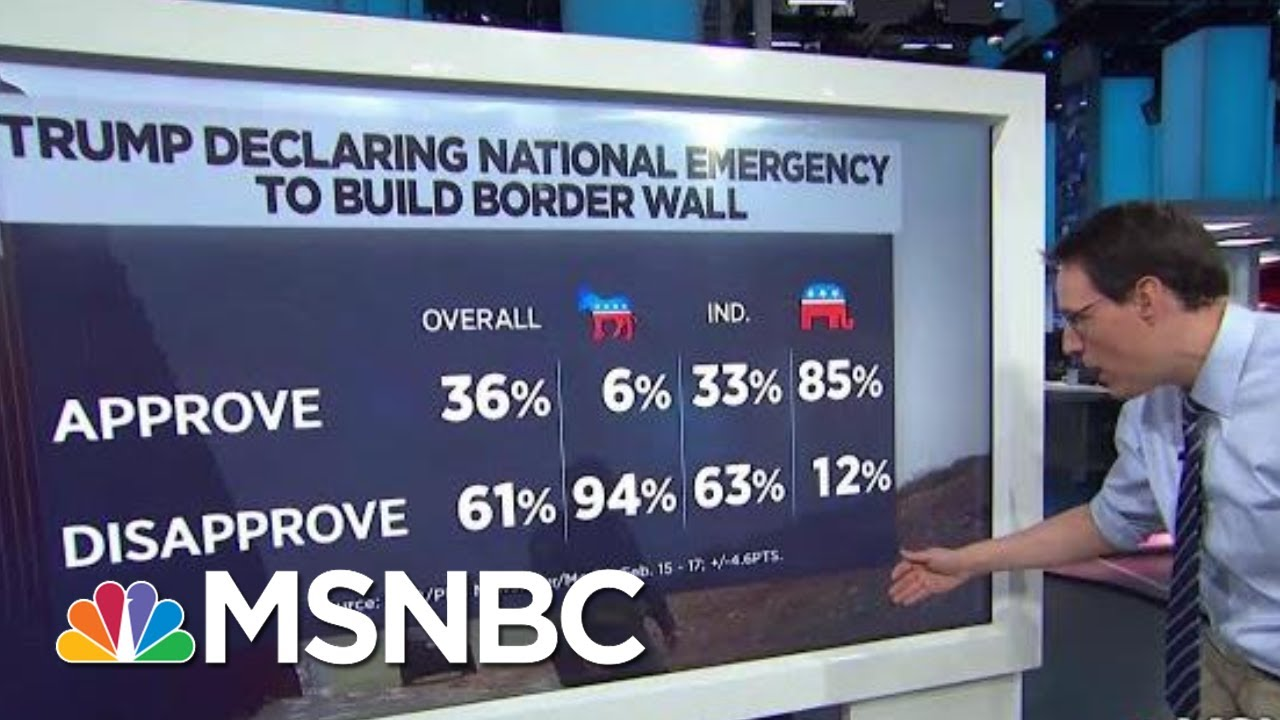 Poll-61-Disapprove-Of-President-Donald-Trumps-National-Emergency