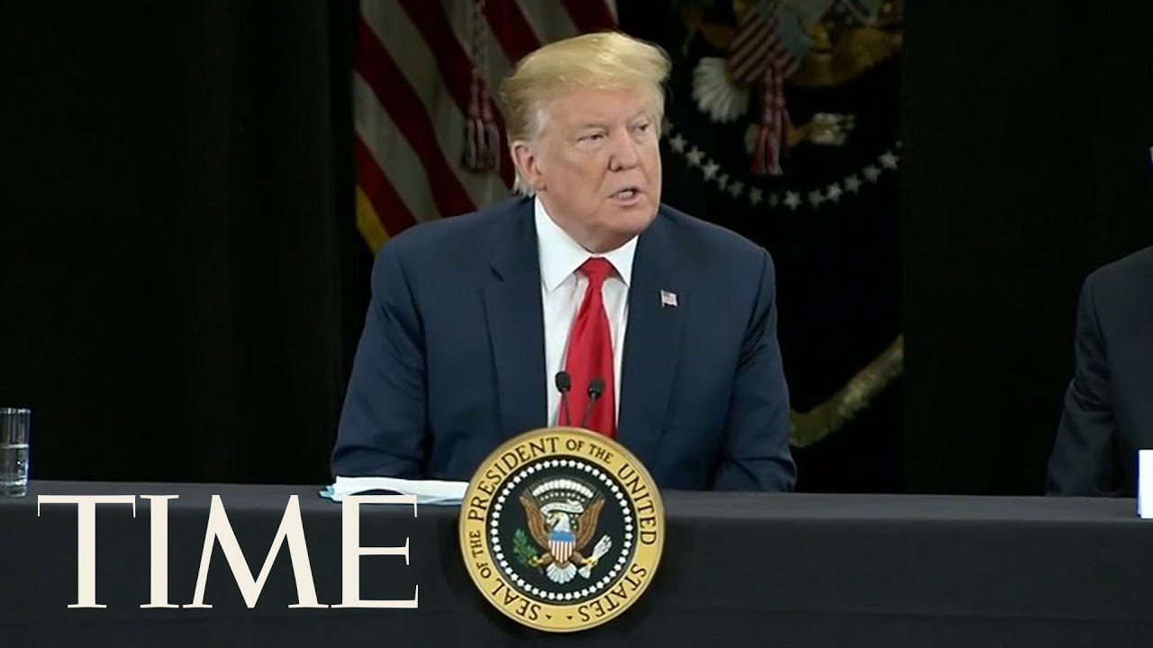 President-Trump-Reacts-To-The-Norte-Dame-Cathedral-Fire-During-A-Tax-Day-Event