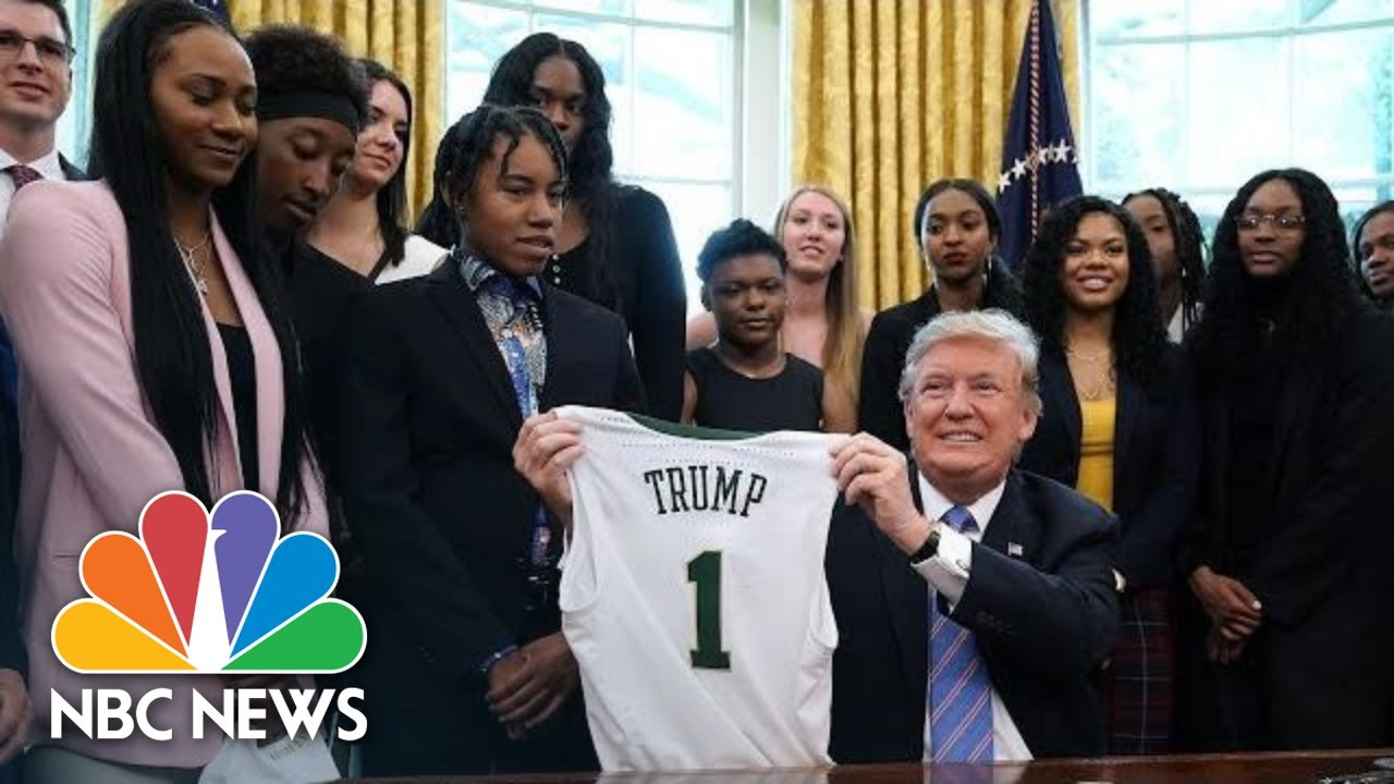 President-Donald-Trump-Hosts-NCAA-Champion-Baylor-Womens-Basketball-Team-At-White-House