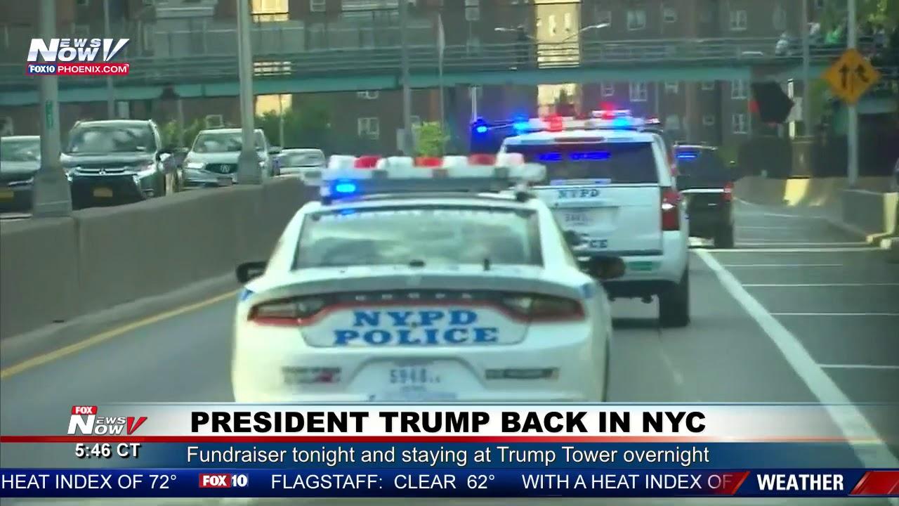 RARE-President-Trump-Motorcade-In-New-York-City