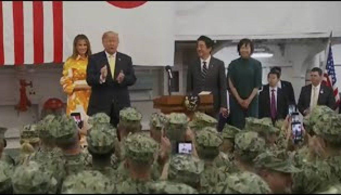 President-Trump-PM-Abe-Tour-Japanese-Destroyer-J.S.-Kaga-Near-Yokosuka-Naval-Base