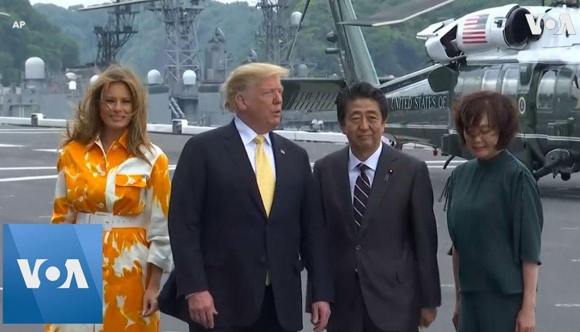 Abe-Trump-Arrive-at-Japanese-Naval-Base