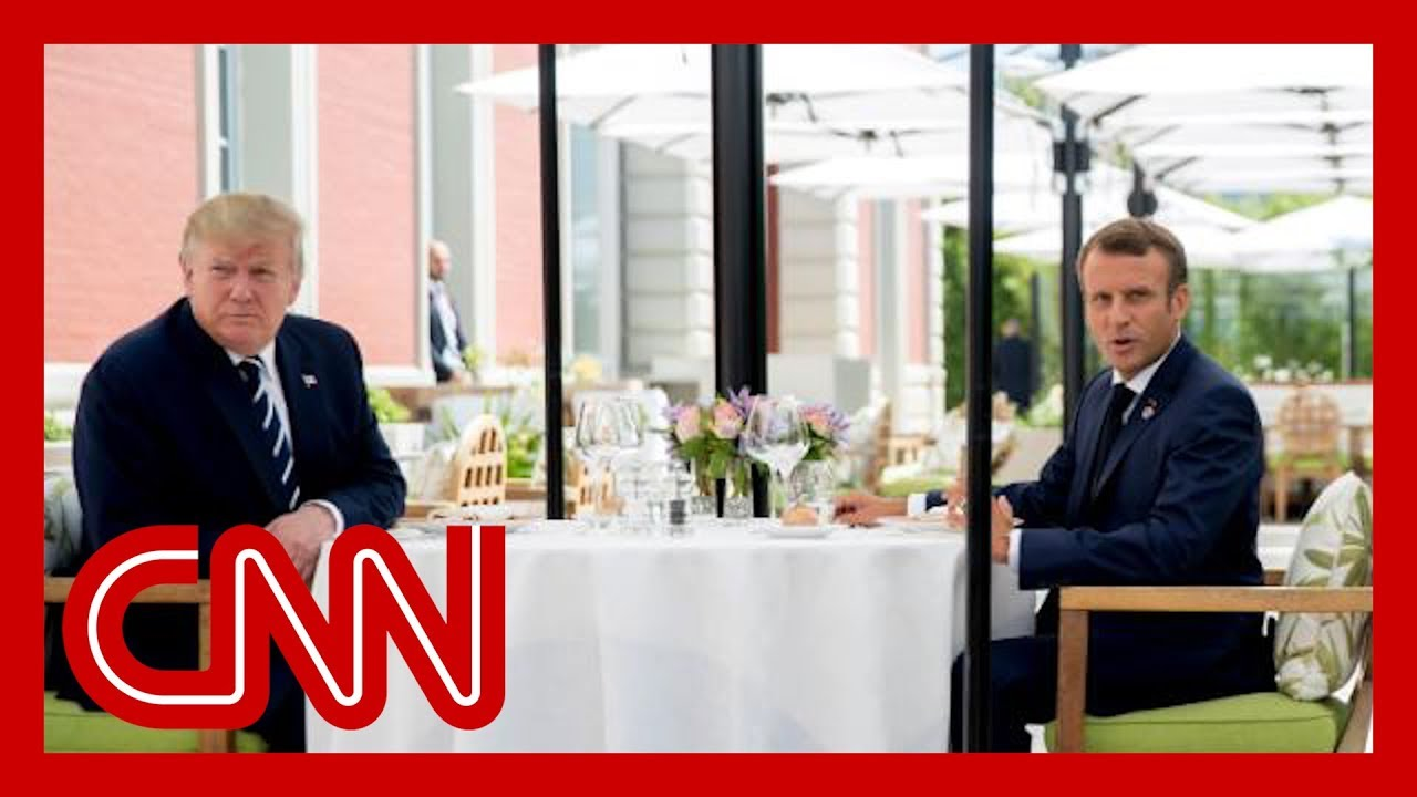 Trump-lunches-with-Macron-amid-tension-on-tariffs