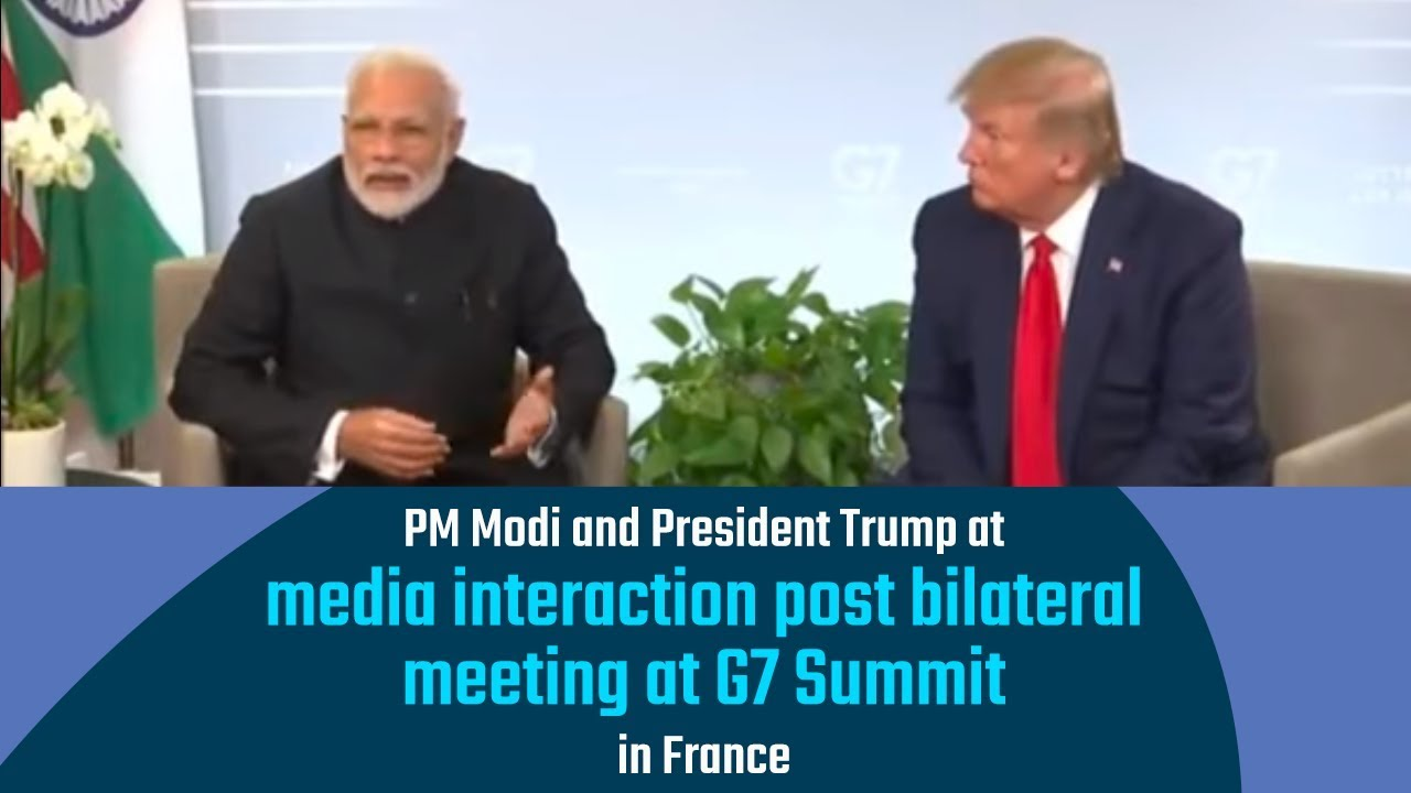 PM-Modi-and-US-President-Trump-at-media-interaction-post-bilateral-meeting-at-G7-Summit-in-France