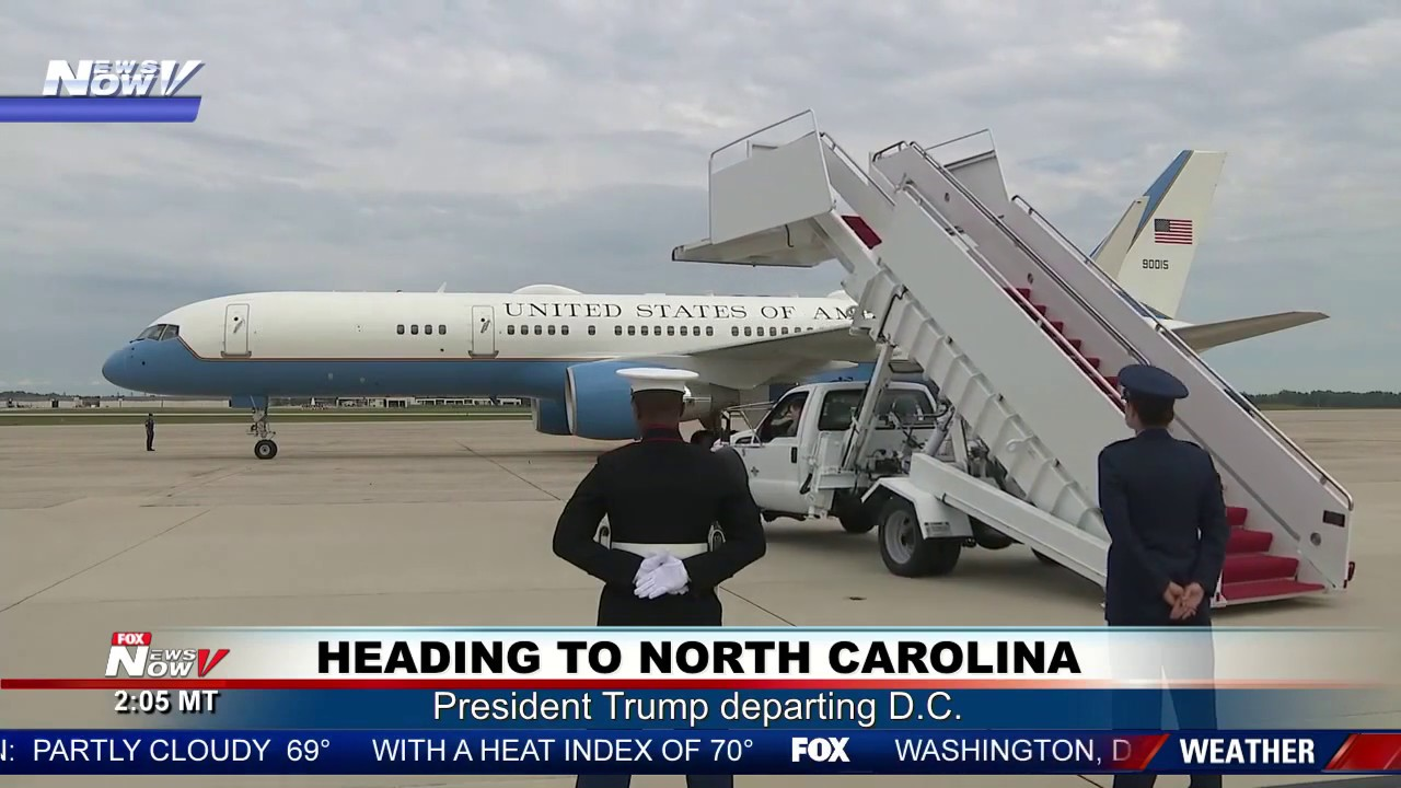 AIR-FORCE-ONE-DEPARTURE-Heading-to-North-Carolina-for-President-Trump-rally