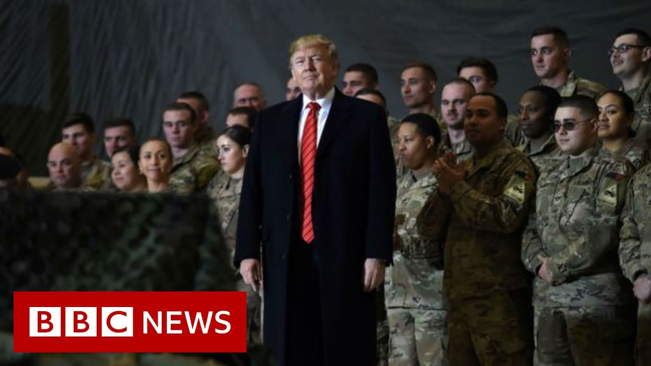 President-Trump-makes-surprise-visit-to-US-troops-in-Afghanistan-BBC-News