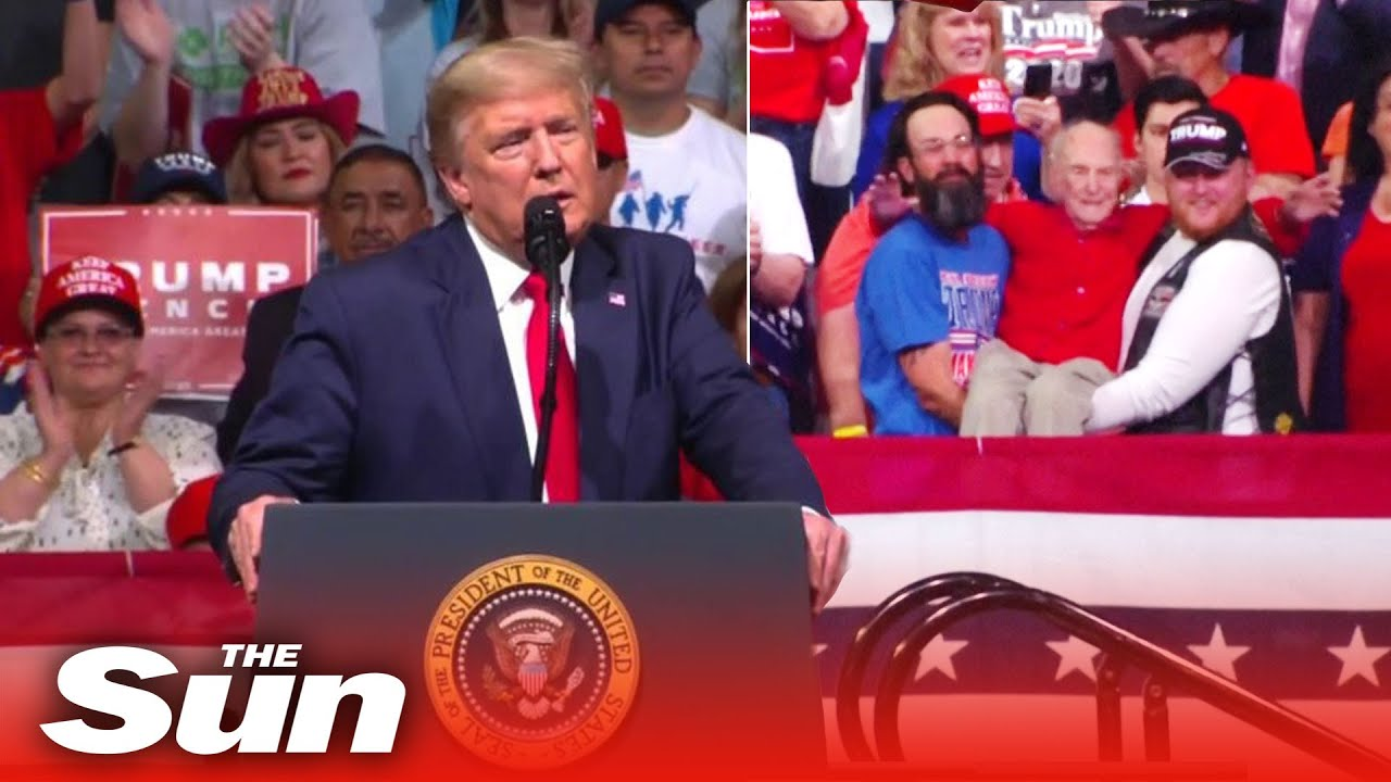 Donald-Trump-stops-rally-to-honour-WWII-Veteran-and-roasts-opponents-with-hilarious-nicknames