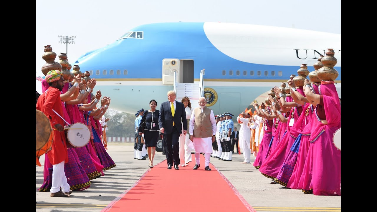 PM-Modi-Welcomes-U.S.-President-Trump-At-Ahmedabad-Airport