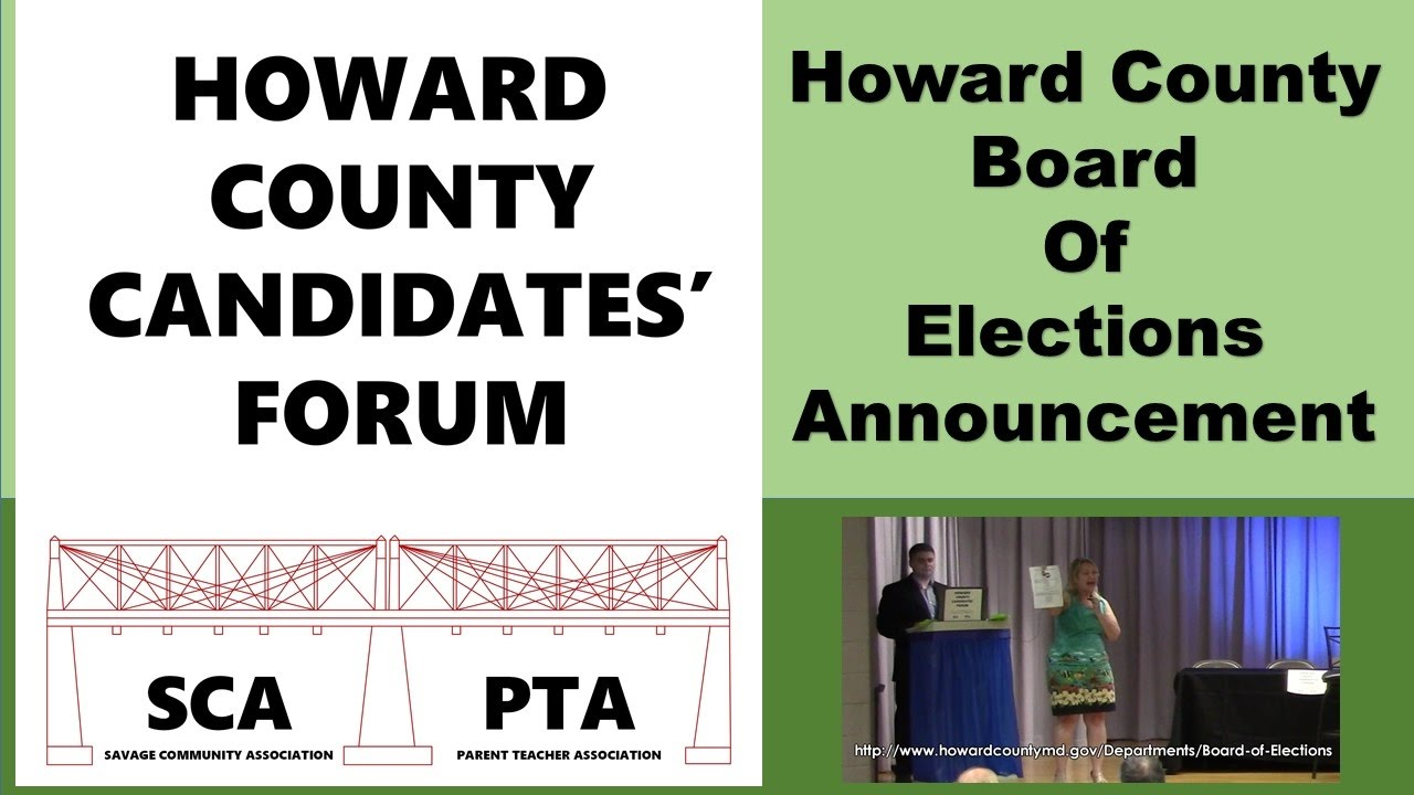 2016-Howard-County-Candidates-Forum-Board-of-Elections