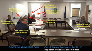 Carroll-County-NH-Delegation-SubCommittee-101915
