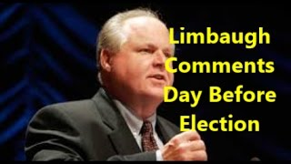 Rush-Limbaugh-Comments-Day-Before-Election-Hillary-vs-Trump