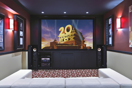 great basement home theaters electronic house rh electronichouse com Home Theater Room Home Theater Projector Screen