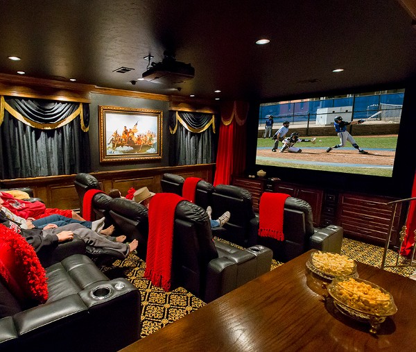 Home Lighting Colorado Springs: Home Theater Replaces Billiards Room In Colorado Home