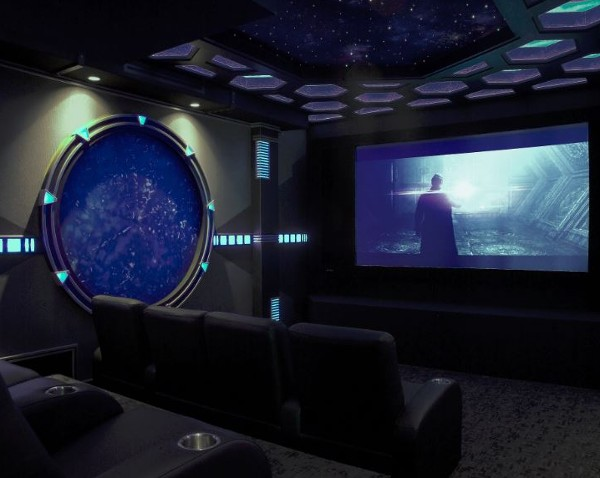 Sci Fi Home Theater Design Is Portal To Another World Electronic House