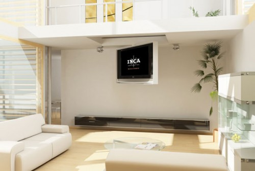 Inca Offers Different Hinged Designs In Its Series Of Flat Screen TV  Fold Down Ceiling Units. You Can Have The TV Tuck Up Into A Recessed Pocket  In The ...