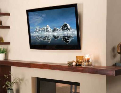 Living Room With Tv Mounted On Wall what to look for in a tv wall mount - electronic house