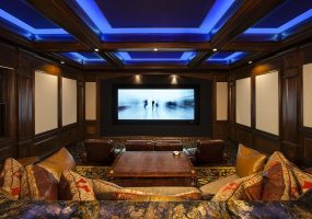 motorized window shades home theater