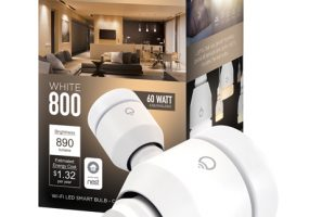 LIFX Puts WiFi into White 800 LED Light Bulbs for $39.99
