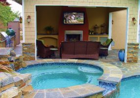 outdoor tv and outdoor speakers by steve hunter