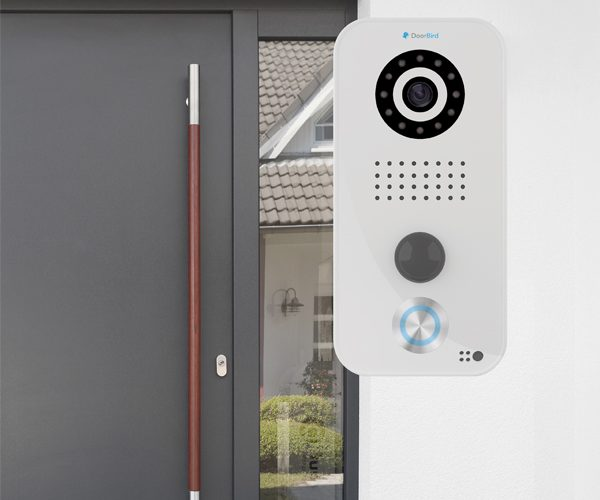 Doorbird provides remote control over door based home for Home door security devices