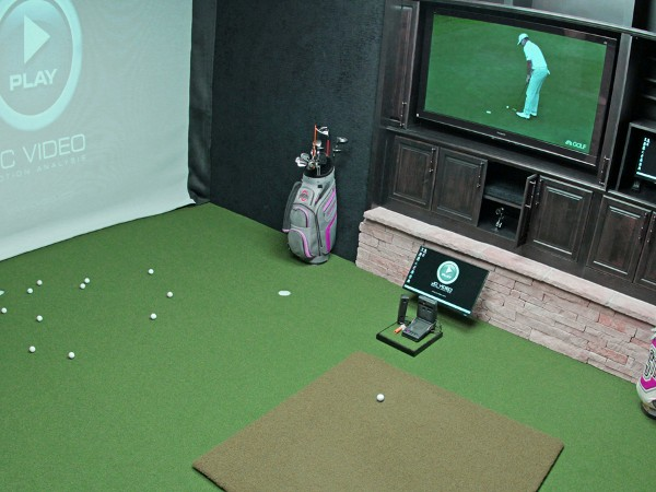 Boring Family Room Turned to Home Theater and Golf ...