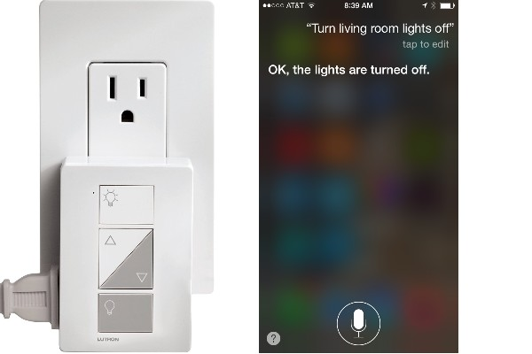 control lights with siri