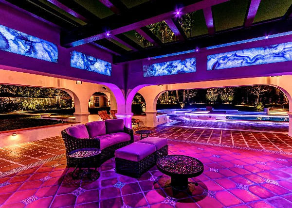 Extreme lighting control system shines in this winning backyard home of the year lighting control aloadofball Choice Image