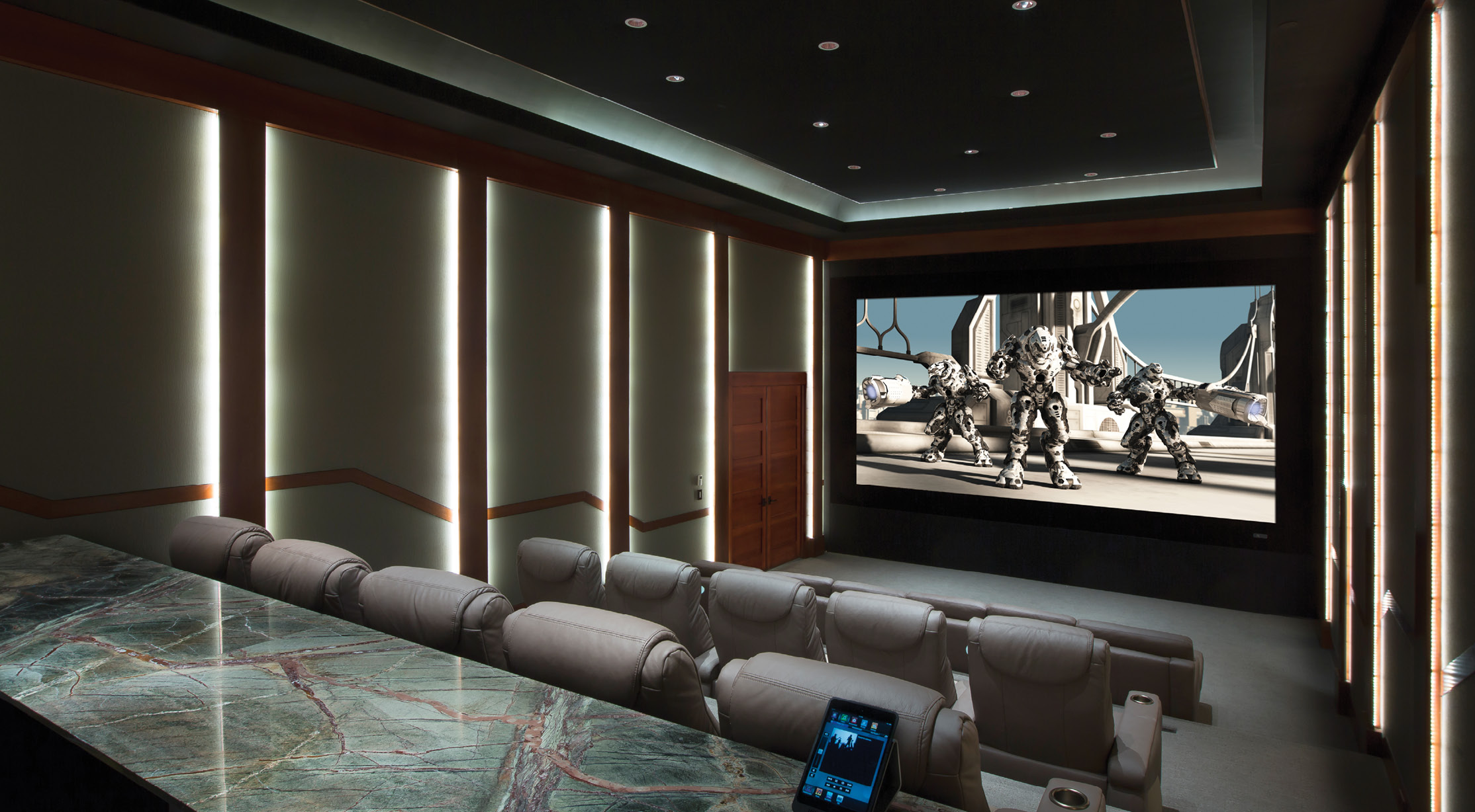acoustic smart home theater interiors house of samples