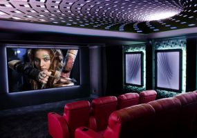 Estate Features Home Theater Lighting to Match Any Mood