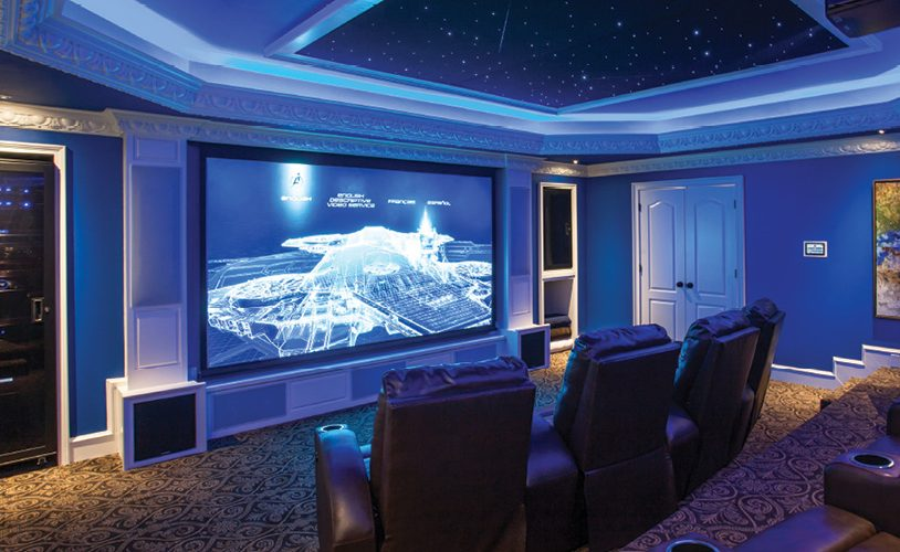 Itu0027s only fitting for the room with the most drama to have the most dramatic lighting. If you want your media room to be a true home theater ... & Marvelous Media Room Illumination - Electronic House azcodes.com