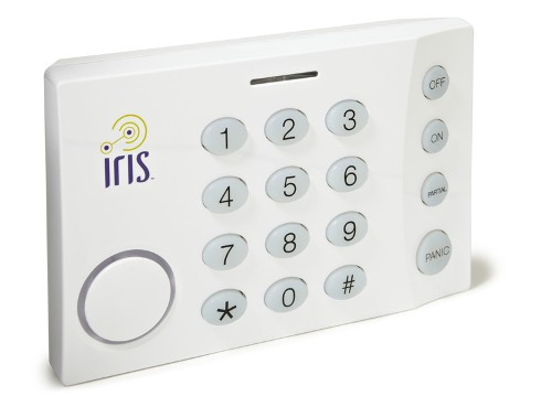 hands on lowe s iris diy home security and home automation iris keypad