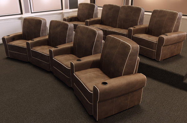 Salamander designs debuts isabella home theater seats electronic house Home theater furniture amazon