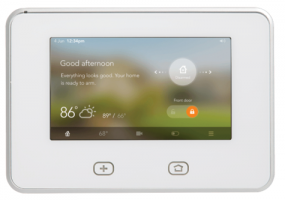 The SkyControl panel from Vivint functions both as a security panel and a home control device.