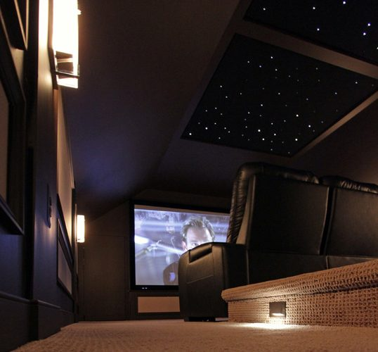 smart lighting in your home theater