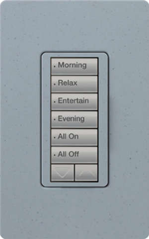 Keypads, like this one from Lutron, offer a eye-pleasing and quick and convenient way to control the lights as you walk into a room.
