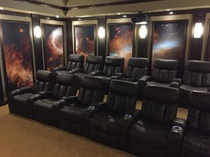 Space age home theater sets the entertainment bar high electronic house Home theater furniture amazon