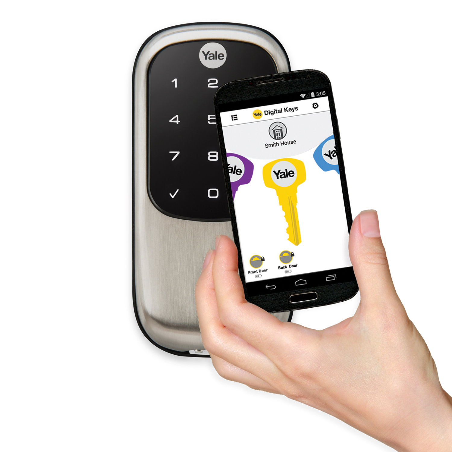 Smartphone Replaces House Keys With Launch Of Yale Bluetooth Door Lock    Electronic House