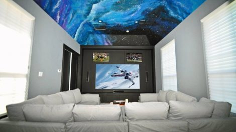 After: a slick multi-screen home theater