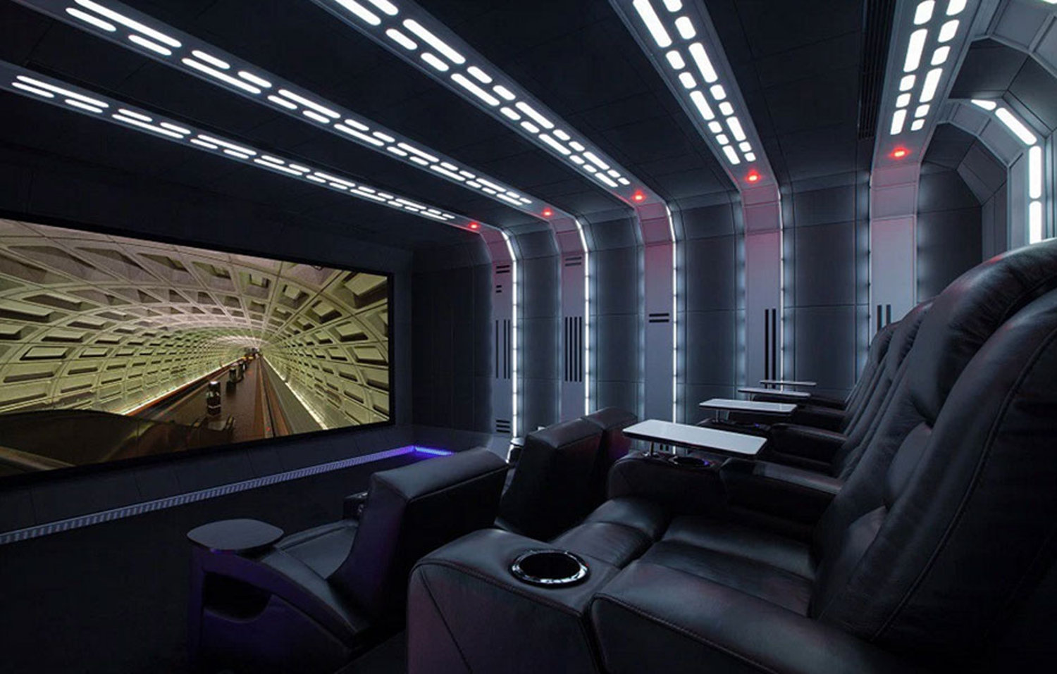 Star wars home theater features sony 4k video projector - Home theater design dallas inspired ...