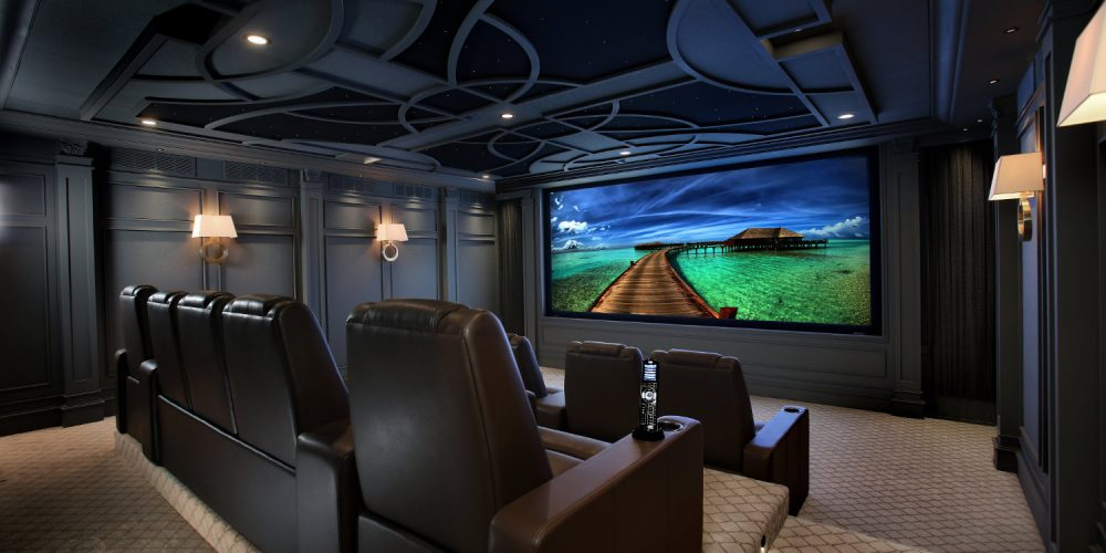 Home Theater In A Historic Home Masks Noise From Nearby Train